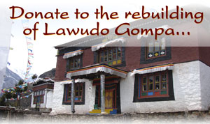 Please Donate to build a new Gompa at Lama Zopa Rinpoche's Lawudo Gompa Tibetan Buddhist Mountain Retreat and Cave